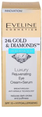 Eveline Cosmetics 24k Gold & Diamonds crema rejuvenecedora para contorno de ojos 3