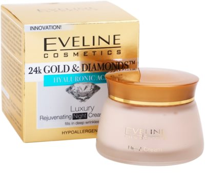 Eveline Cosmetics 24k Gold & Diamonds crema de noche rejuvenecedora 2