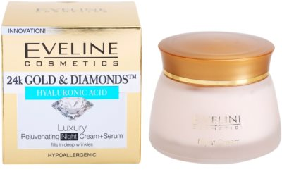 Eveline Cosmetics 24k Gold & Diamonds crema de noche rejuvenecedora 3