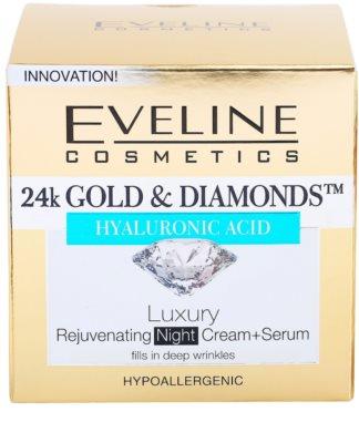 Eveline Cosmetics 24k Gold & Diamonds crema de noche rejuvenecedora 4