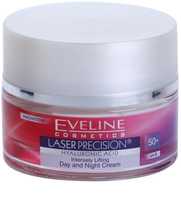 Eveline Cosmetics Laser Precision crema de día y noche antiarrugas 50+