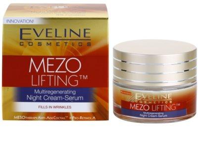 Eveline Cosmetics Mezo Lifting Ser-crema de noapte cu efect de multiregenerare 2