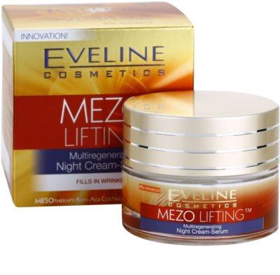 Eveline Cosmetics Mezo Lifting Ser-crema de noapte cu efect de multiregenerare 3
