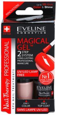 Eveline Cosmetics Nail Therapy Professional géles körömlakk UV/LED lámpa használata nélkül 2