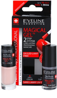 Eveline Cosmetics Nail Therapy Professional géles körömlakk UV/LED lámpa használata nélkül 1