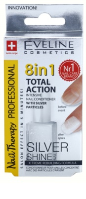 Eveline Cosmetics Nail Therapy Professional Conditioner für die Fingernägel mit Glitzerteilchen 1
