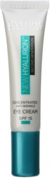 Eveline Cosmetics New Hyaluron creme de olhos suavizante  SPF 15