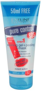 Eveline Cosmetics Pure Control Reinigungsgel 3 in 1