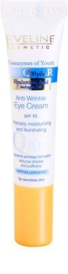 Eveline Cosmetics Q10 + R creme de olhos antirrugas SPF 10