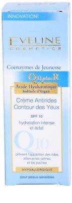 Eveline Cosmetics Q10 + R creme de olhos antirrugas SPF 10 3