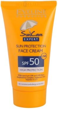 Eveline Cosmetics Sun Care krema za sončenje za obraz SPF 50