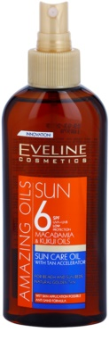 Eveline Cosmetics Sun Care napozó olaj spray -ben SPF 6