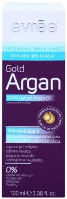 Evrée Intensive Body Care Gold Argan Oil testápoló olaj fiatalító hatással 2