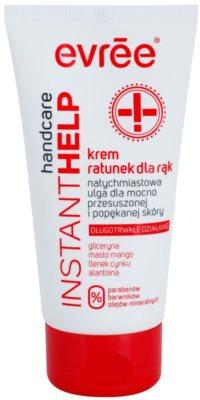 Evrée Instant Help beruhigende Creme für die Hände mit feuchtigkeitsspendender Wirkung