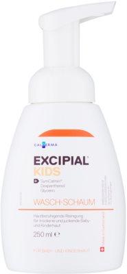 Excipial Kids espuma de limpeza para pele sensível e irritada