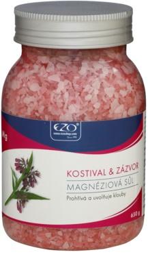 EZO Comfrey & Ginger magnéziumos sós fürdő,felmelegíti és ellazítja az izmokat