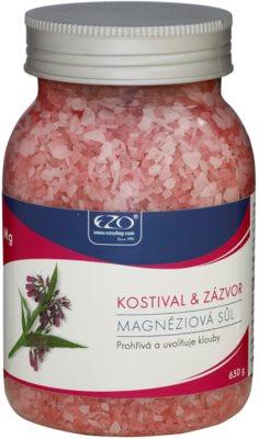 EZO Comfrey & Ginger sal de banho relaxante com magnésio e para aquecimento de músculos