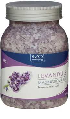 EZO Lavender Magnesium-Badesalz zum Entspannen von Körper und Geist