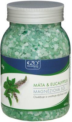 EZO Mint & Eucalyptus magnezijeva sol za kopel za sprostitev dihalne poti