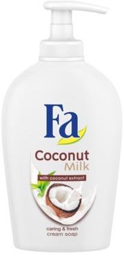 Fa Coconut Milk jabón con textura de crema con dosificador