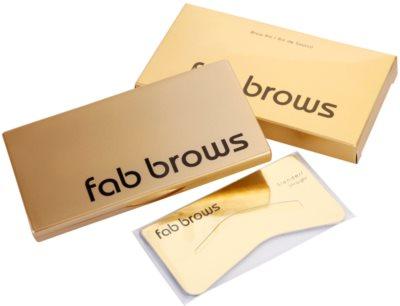 FAB Brows Kit perfekte Augenbrauen in wenigen Sekunden 2