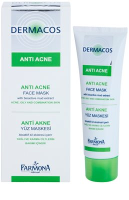 Farmona Dermacos Anti-Acne mascarilla facial con caolín 1