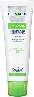 Farmona Dermacos Anti-Acne crema de noche normalizante para reducir la producción de grasa