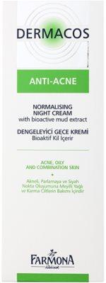 Farmona Dermacos Anti-Acne creme normalizante de noite para reduzir a produção de sebo 2