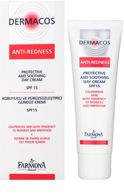 Farmona Dermacos Anti-Redness zaščitna in pomirjevalna dnevna krema SPF 15 1