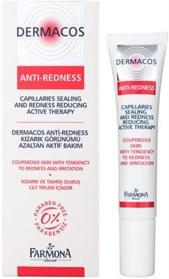 Farmona Dermacos Anti-Redness aktivní gelové sérum pro posílení jemných žilek zabraňující jejich praskání 1