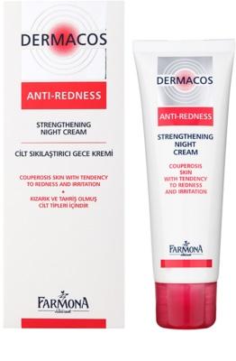 Farmona Dermacos Anti-Redness krepilna nočna krema, ki preprečuje pokanje in tvorbo novih razširjenih žilic 1