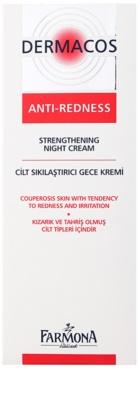 Farmona Dermacos Anti-Redness krepilna nočna krema, ki preprečuje pokanje in tvorbo novih razširjenih žilic 2