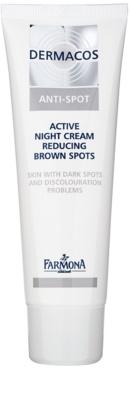 Farmona Dermacos Anti-Spot aktywny krem na noc, aby zmniejszyć plamy pigmentacyjne