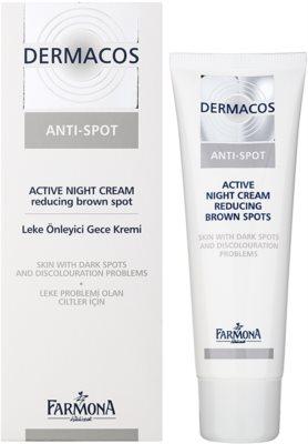 Farmona Dermacos Anti-Spot aktivizáló éjszakai krém a pigmentfoltok csökkentésére 1
