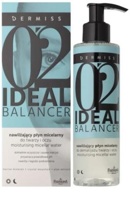 Farmona Dermiss Ideal Balancer agua micelar hidratante para rostro y ojos 1