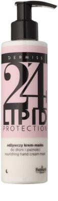 Farmona Dermiss Lipid Protection нічний поживний крем-маска для рук та нігтів