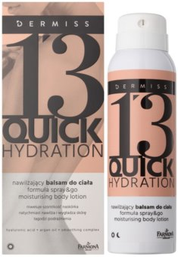 Farmona Dermiss Quick Hydration hidratáló testápoló tej spray -ben 1