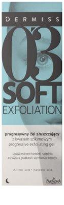 Farmona Dermiss Soft Exfoliation čisticí peelingový gel pro obnovu povrchu pleti 2
