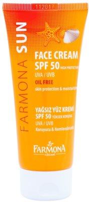 Farmona Sun védőkrém zsíros és kombinált bőrre SPF 50