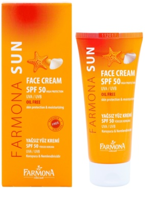 Farmona Sun crema protectoare pentru tenul gras si mixt SPF 50 1