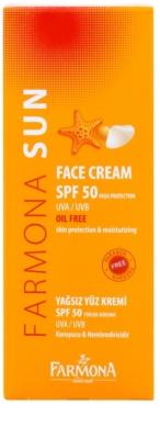Farmona Sun ochranný krém pro mastnou a smíšenou pleť SPF 50 2