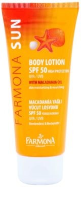 Farmona Sun napozó tej makadámia olajjal SPF 50
