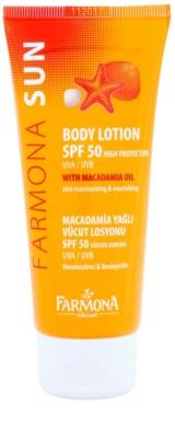 Farmona Sun ochranné opalovací mléko s makadamiovým olejem SPF 50
