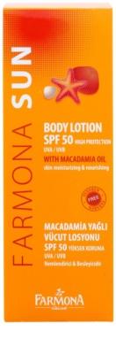 Farmona Sun napozó tej makadámia olajjal SPF 50 2