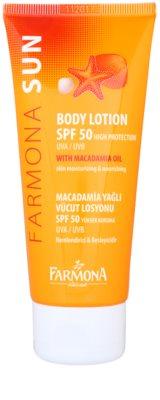Farmona Sun захисне молочко для тіла зі зволожуючим ефектом SPF 50