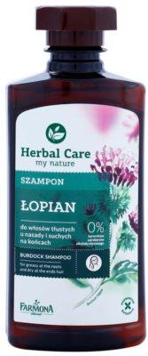 Farmona Herbal Care Burdock szampon do przetluszczającej się skóry głowy i suchych końcówek