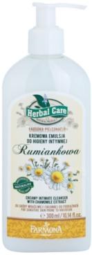 Farmona Herbal Care Chamomile emulsión textura cremosa para la higiene íntima