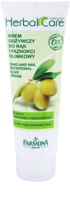 Farmona Herbal Care Olive nährende Crem für Hände und Fingernägel