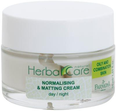 Farmona Herbal Care Green Tea crema de día y noche normalizante y matificante para pieles mixtas y grasas