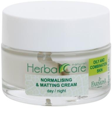 Farmona Herbal Care Green Tea normalisierende und mattierende Tages - und Nachtcreme für fettige und Mischhaut